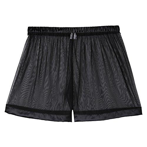 055bb919fe0 TiaoBug US Mens Hollow Openwork Drawstring Lounge Underwear Boxer ...