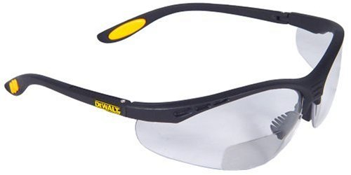 afd18ca9687 Dewalt DPG59-120C Reinforcer Rx-Bifocal 2.0 Clear Lens High Performance Protective  Safety Glasses with Rubber Temples and Protective Eyeglass Sleeve