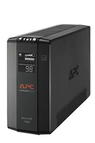 APC UPS Battery Backup & Surge Protector with AVR, 1000VA, APC Back