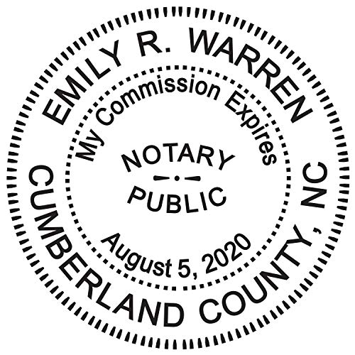 Round Notary Stamp For State Of North Carolina- Self